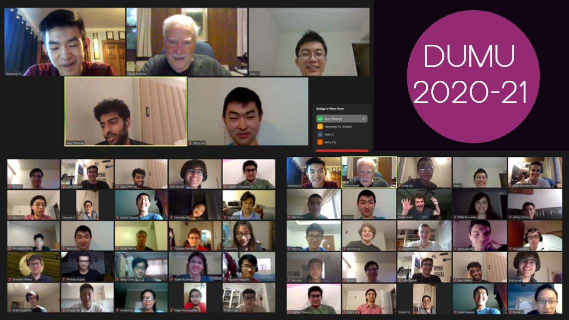 Photo of members of DUMU 2020-21