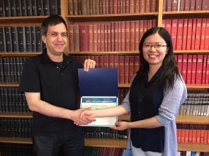 Ji with Professor Tom Witselski